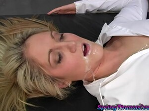 Cum In Mouth Ending After Kinky Interracial Fucking - Cuckold