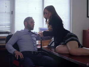 Brunette Teen Danni Rivers Rides Dick And Gets A Cumshot In A Uniform