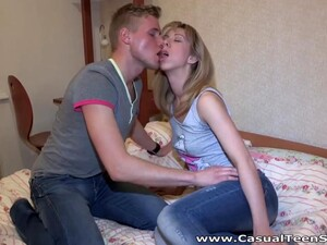 Sexy Blonde Babe With Juicy Ass Is Teen Who Wanna Be Fucked Missionary