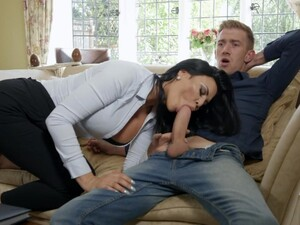 Busty Tanned Brunette Sexpot Is Bent Over As It Is Time For Hardcore Anal