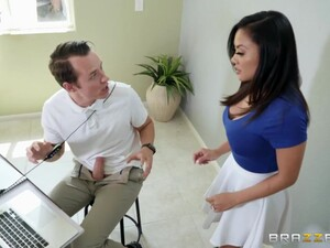 Bosomy Alluring Brunette MILF Cannot Stop Riding Strong Cock For Orgasm