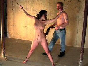 Brunette MILF Enjoys Being Tied Up With Her Mouth Filled With Cock
