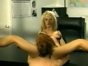 Two Magnificent Classic White Milfs Pleasuring Each Other On The Table
