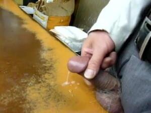 Japanese Old Man Masturbation Erect Penis Semen
