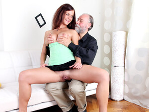 Russian Girl Having Sex With An Old Bearded Man Her Boyfriend's Uncle - OldGoesYoung