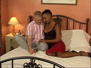 Ebony Chick Lala Gets Talked Into Sucking And Riding A White Cock