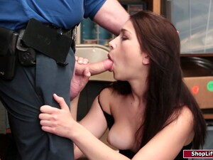 Brunette Thief Gets Dominated And Fucked Hard By An Officer
