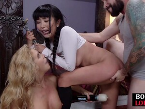 BDSM Milf Facefucked And Bound Asian Ass Pounded