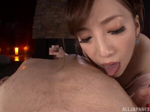 POV Amateur Video Of Asian Chick Sumire Mika Giving A Titjob