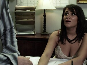 She Gets Cumshot After Her Hairy Pussy Bonked Hardcore In The Office