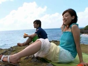 Outdoor Dick Sucking By The Beach With Syouko Akiyama And Her BF