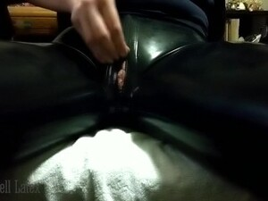 Unzipping Latex Pants To Tease Clit, Finger & Fuck Dripping Wet Pussy