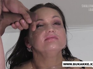 Delicious Barbara Bieber Huge Facial With Multiple Loads Of Cum
