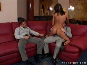 Andy Brown The Hot Brunette Stripper Has Rough DP Sex