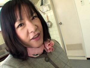 Naughty Japanese Housewife Sucking A Dick In POV - Kiyoe Majima