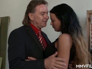 Tanned Slutty Busty Personal Assistant Gets Fucked Doggy Quite Hard