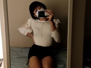 cd Femboy In Secretary Outfit First Time Using Anal Til Cumming