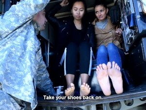 Double Foot Worship By Army Commander (femdom, Teen And Milf, Army Feet, Czech Soles, Asian Feet)