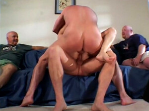 Perverted Bitchie Brunette Housewife Takes DP Right In From Of Her Hubby