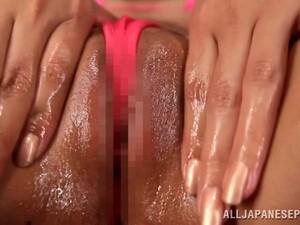 Miku Hasegawa Masturbating Her Wet Pussy With Vibrator