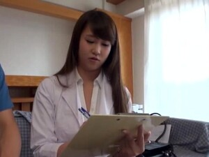 Clothed Sex In Missionary With A Horny Japanese Nurse With Natural Tits