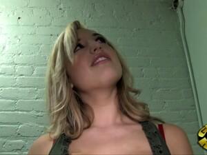 In A Gloryhole A Busty White Girl Sucks Big Black Dick
