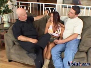 Busty Wife Fucked Mercilessly While Her Old Nasty Husband Watches