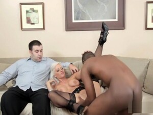 Blonde Mom Goes On An Interracial Cuckold Adventure