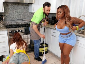 Fat Ebony Girl Ms London Enjoys Having Sex With A White Stud