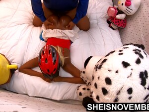 4k Msnovember Thick Ass Prone Bone Ass Up After Bike Ride Up Skirt And Black Pussy Play On