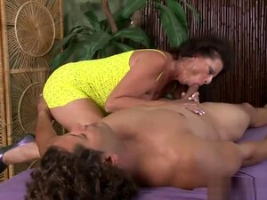 Unearthly Buxomy Mature Lady Is Sucking Dick