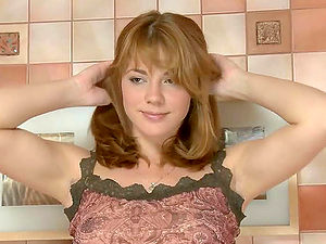 Sweet Girl Suzie Performs A Hot Striptease And Masturbation