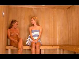 Slim Hotties In Sauna Get It On