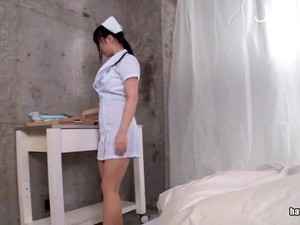 Horny Nurse Exams Her Patient