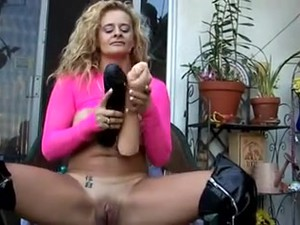 Naughty Mature Pussy Stretching. HUGE TOYS SOLO ACTION