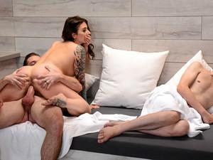 Ivy Lebelle & Kyle Mason In Secret Sauna Sex - Brazzers