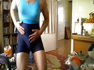 Hot Blue One Piece Swimsuit My Sister