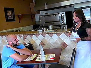 Hardcore In The Kitchen With A Horny Latina Gabbi Vega