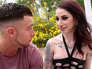 Fucking Hard A Tattooed Goth Slut In The Back Yard
