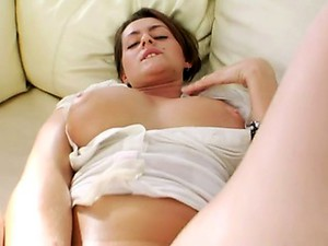 Huge Red Dildo In Her Opened Butthole