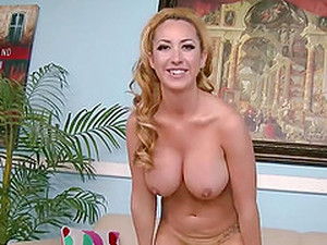 Big Titty Janna Hicks Pumps Dick With Bare Hands Until Her Freckled Tits Are Covered In Cum