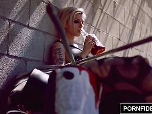 PORNFIDELITY - Tattooed Babe Indigo August Anal Fucking