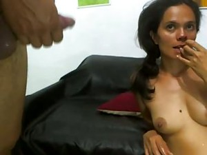 BJ Gag And Cum On Face