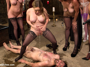 Bella Rossi & Jay Wimp & Cherry Torn & Amanda Tate & Aiden Starr In The Secret Femdom Society: Territorial Pissings - DivineBitches