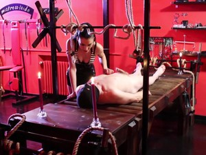 Hard Sadistic Whipping By Cruel Brunette Dominatrix