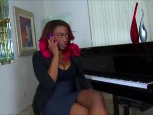Ebony Music Teacher Fucks New Student