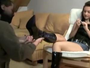 Amazing Amateur Brunette, Fetish Sex Scene