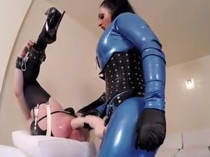 Amazing Amateur Femdom, Latex Sex Video