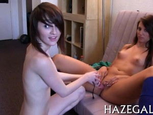 Gals Play With Strapons Teen