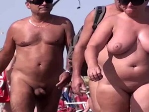 French Nudist Beach Cap D'Agde People Walking Nude 03